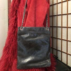 Hobo international black leather distressed bag